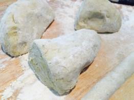 portions of gnocchi dough
