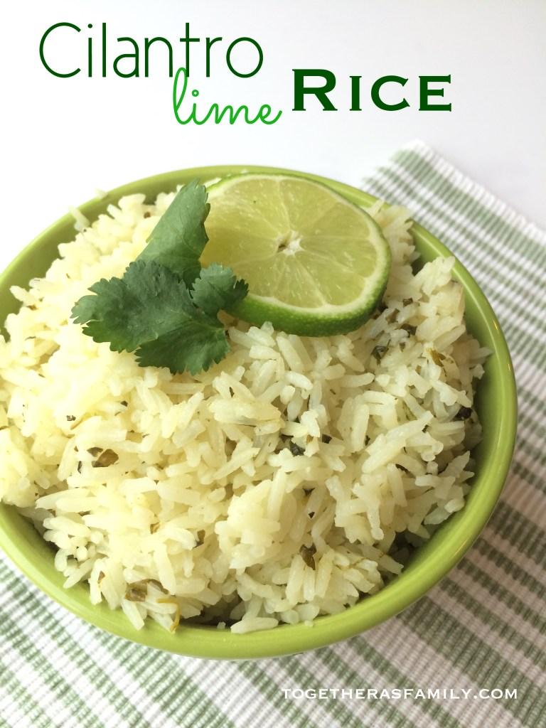 Cilantro Lime Rice- www.togetherasfamily.com