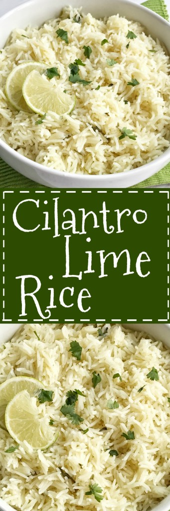 Cilantro lime rice is the perfect side dish, for burritos, nachos, or even a taco salad. So many options! Delicious toasted rice is cooked to perfection in a flavorful chicken broth full of spices, cilantro and lime. This is the best cilantro lime rice and turns out perfect every single time.