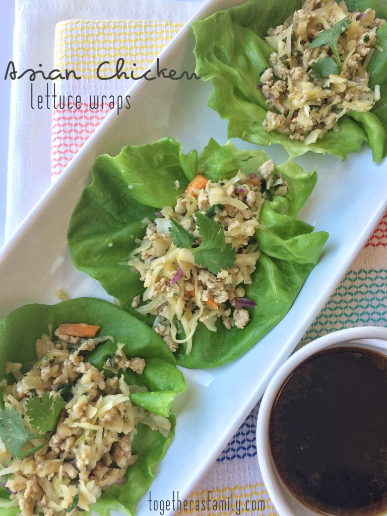 Asian Chicken Lettuce Wraps- www.togetherasfamily.com
