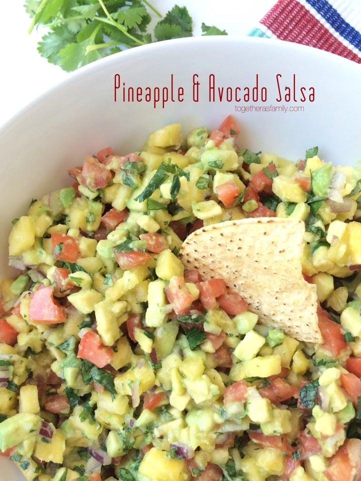 Pineapple Avocado Salsa- www.togetherasfamily.com