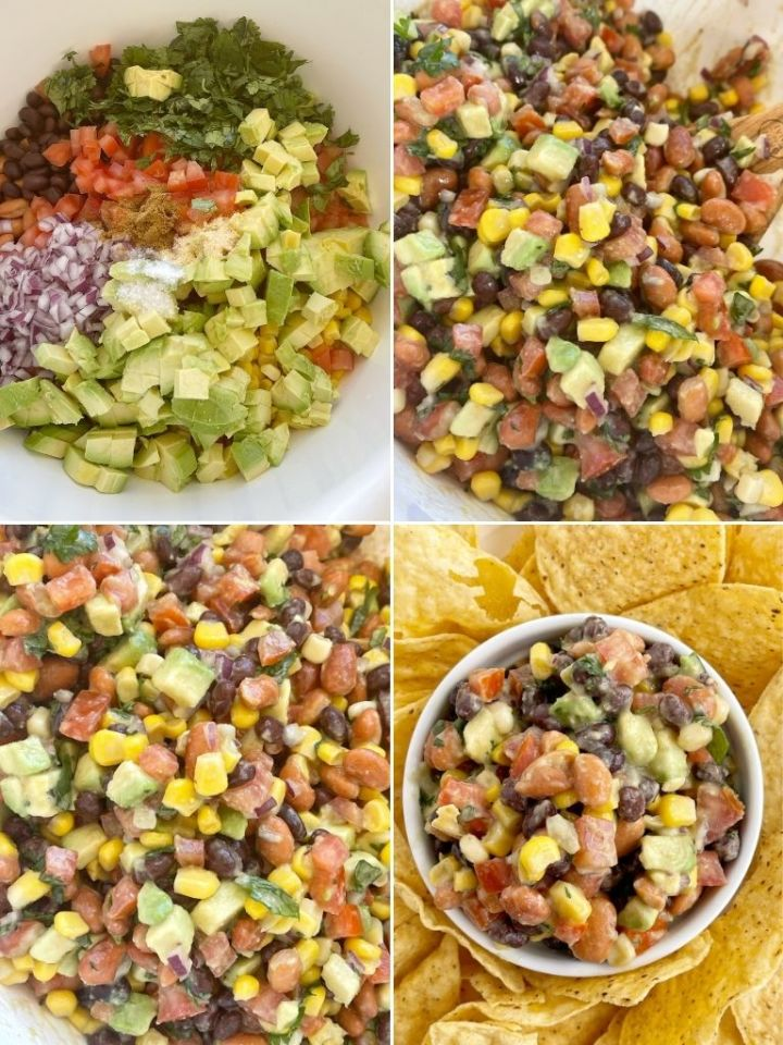 How to make cowboy salsa with step-by-step instructions with pictures.