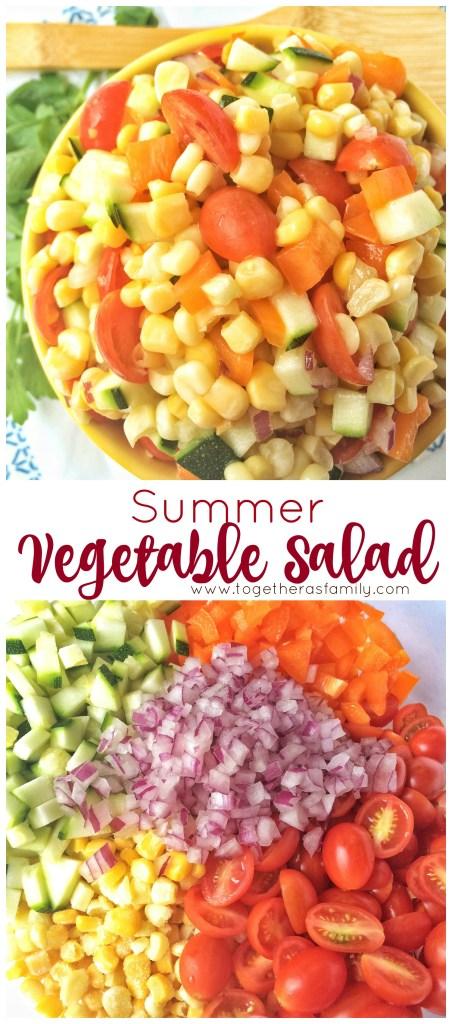 SUMMER VEGETABLE SALAD | www.togetherasfamily.com