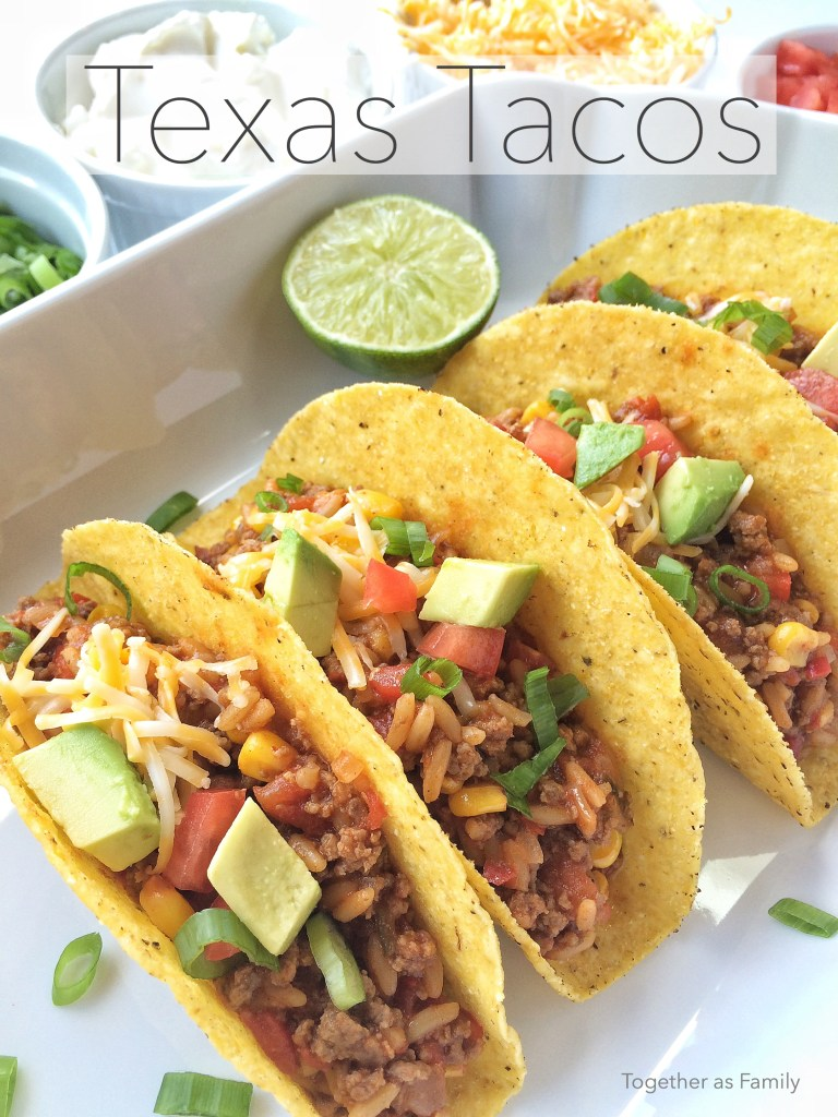 TEXAS TACOS | a yummy, hearty, and fun twist on the traditional taco! www.togetherasfamily.com