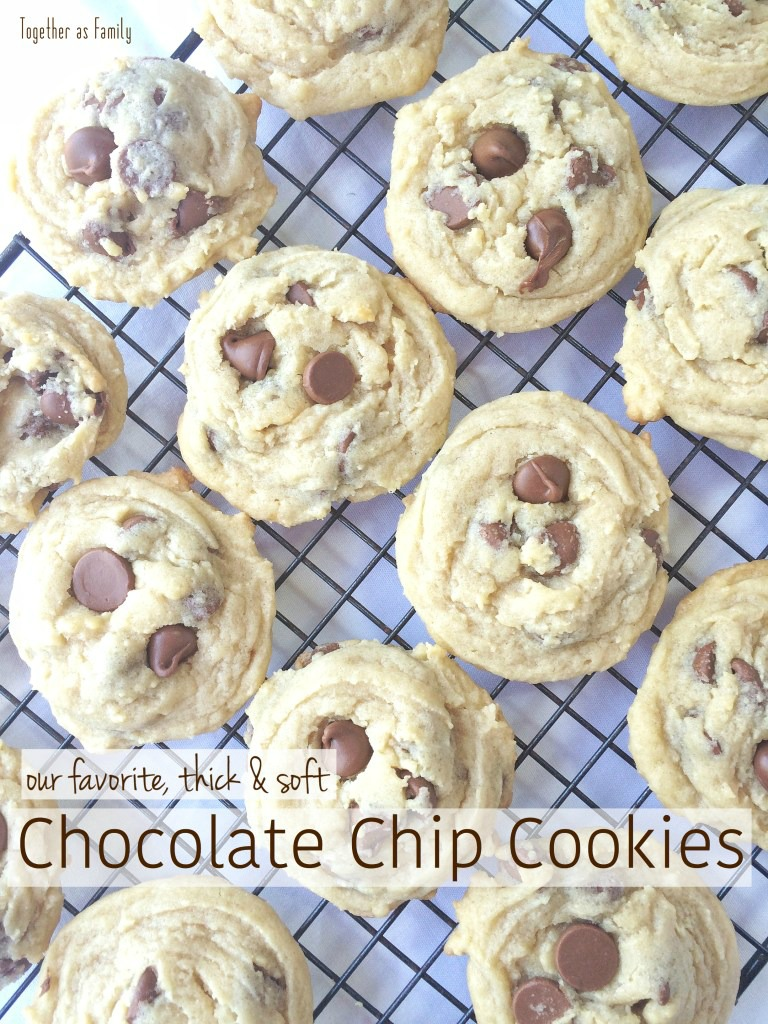 If you are a fan of thick, soft and puffy cookies then these chocolate chip cookies will be your new best friend! No flat &crispy cookies here! Hopefully our favorite chocolate chips will be yours too.
