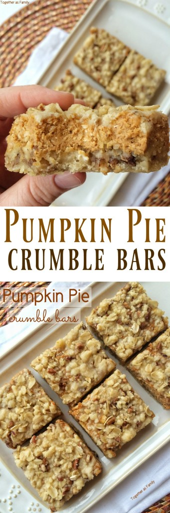Pumpkin Pie Crumble Bars | Together as Family