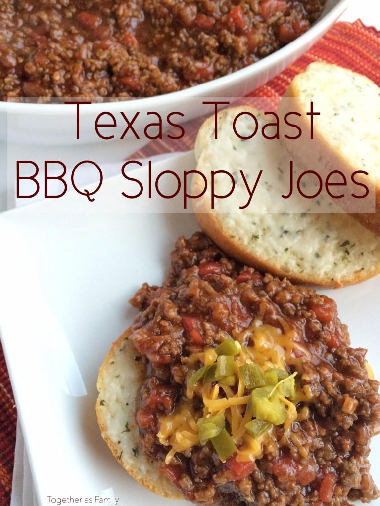 TEXAS TOAST BBQ SLOPPY JOES | www.togetherasfamily.com