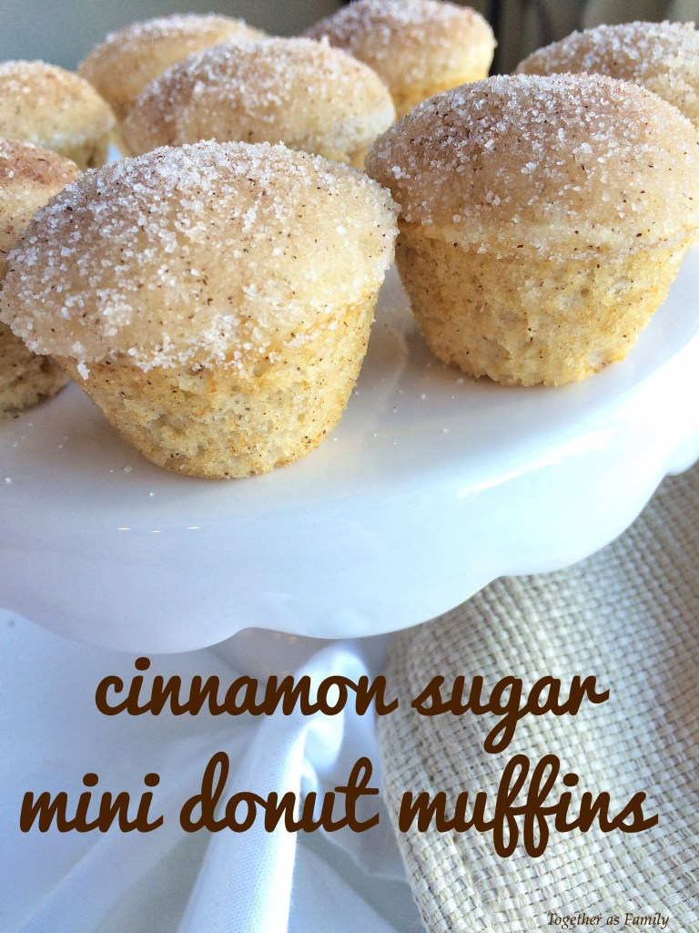 CINNAMON SUGAR MINI DONUT MUFFINS | www.togetherasfamily.com