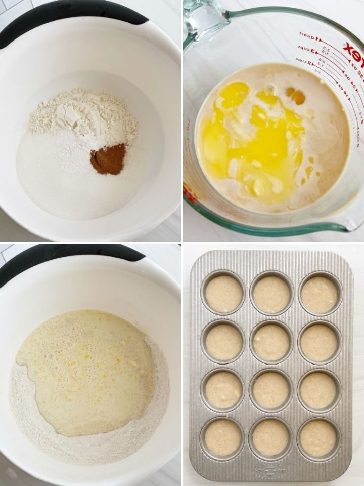 How to make cinnamon sugar donut muffins with step-by-step instructions and pictures.