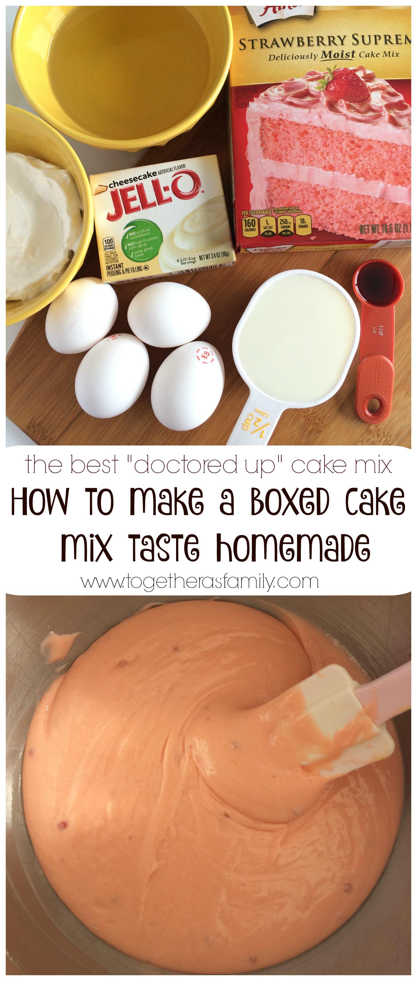 How to make box german chocolate cake taste homemade