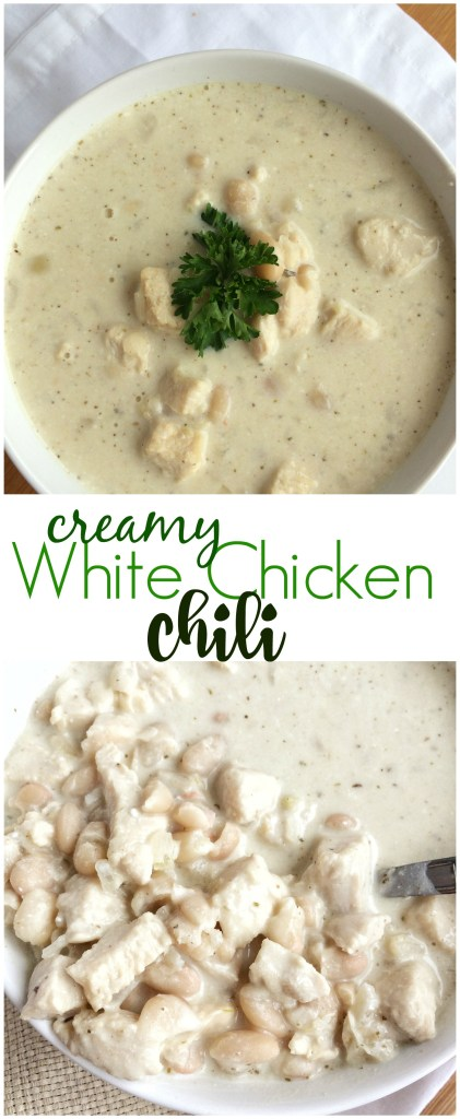 CREAMY WHITE CHICKEN CHILI | www.togetherasfamily.com