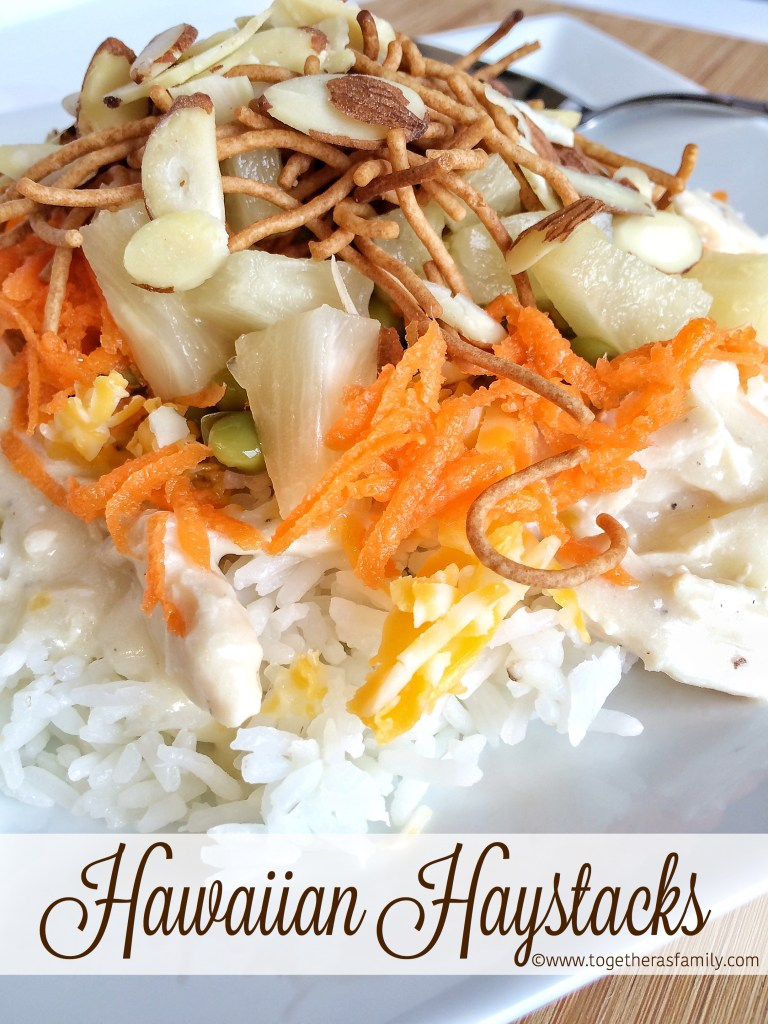 HAWAIIAN HAYSTACKS | w/ a homemade creamy chicken gravy that is so yummy! www.togetherasfamily.com