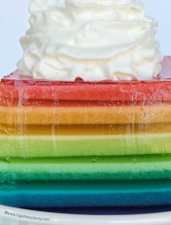 This fun & fruity rainbow jello will be a hit with everyone! 12 layers of Jell-O and some whipped cream make this so colorful and tasty. It's surprisingly easy. Anyone can do it!