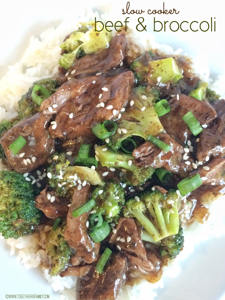 SLOW COOKER BEEF & BROCCOLI | www.togetherasfamily.com
