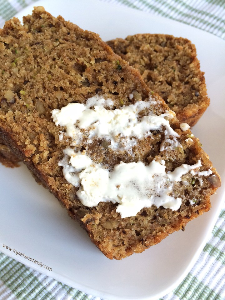 WHOLE WHEAT ZUCCHINI WALNUT BREAD | Together as Family