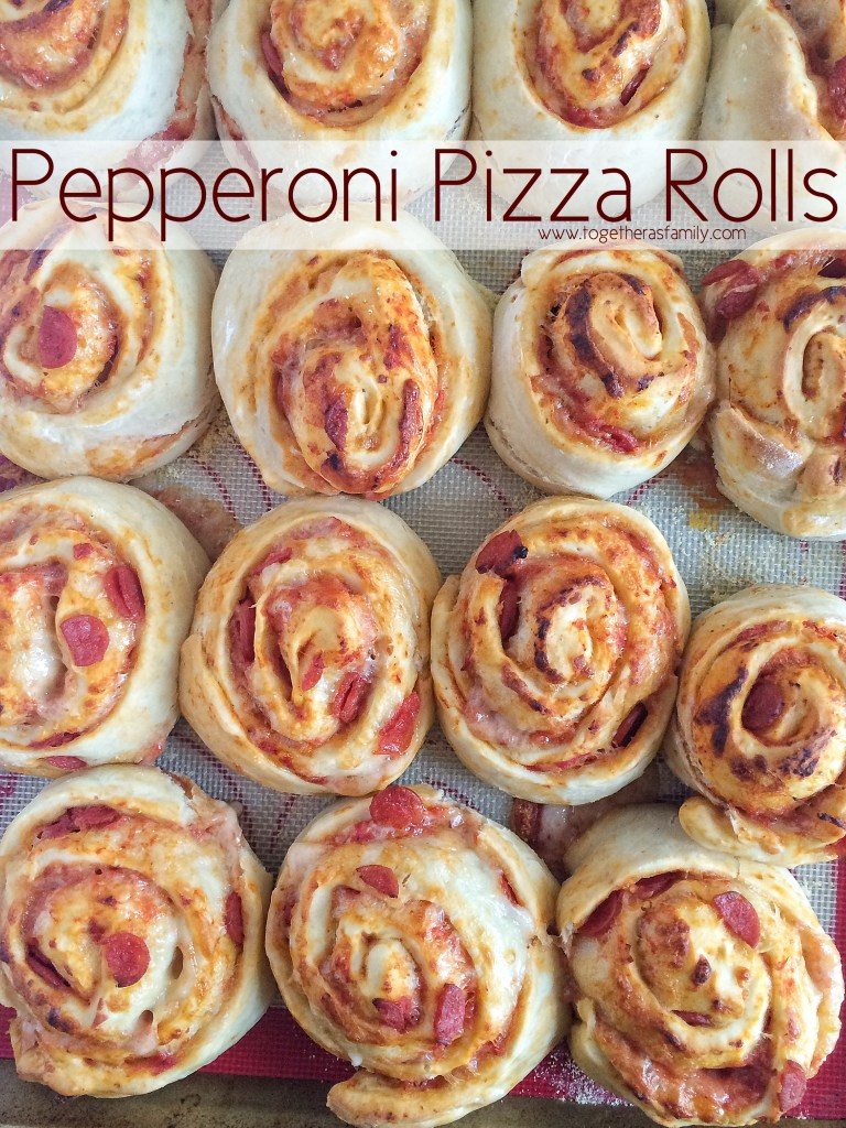 Homemade Pepperoni Pizza Rolls | Together as Family