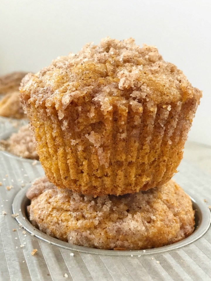 Pumpkin Cream Cheese Streusel Muffins   Pumpkin Muffins   Pumpkin Cheesecake   Pumpkin muffins with a sweet cheesecake center and topped with cinnamon streusel. These pumpkin cream cheese streusel muffins will be one of the best pumpkin muffins you ever make. #pumpkinspice #pumpkin #pumpkinmuffins #fallrecipes #muffins #cheesecake