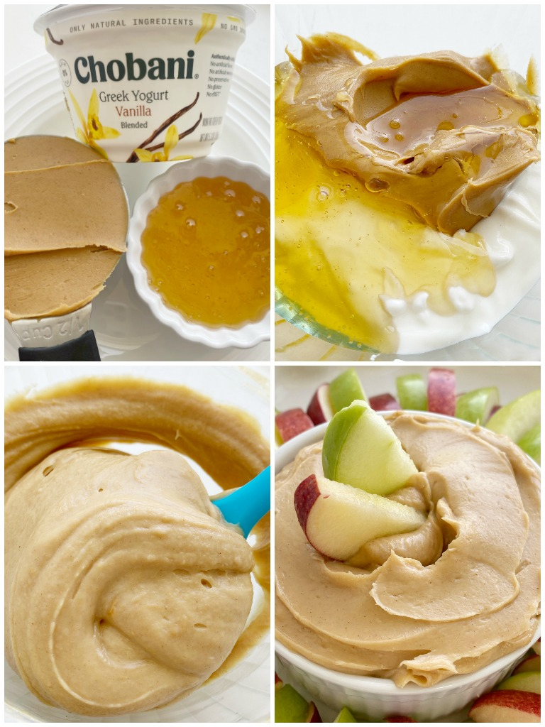Peanut Butter Greek Yogurt Apple Dip is an easy, 3-ingredient dip that takes just seconds to prepare and it's loaded with protein! Serve with sliced apples for a healthy and delicioussnack.