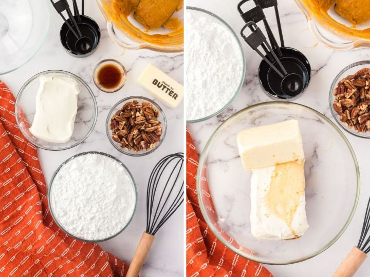 How to make the cream cheese frosting with ingredient photo.
