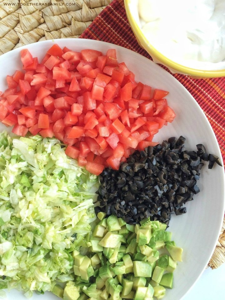 Toppings for taco salad casserole recipe.