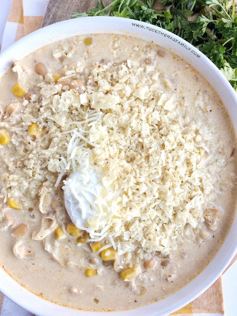 Slow Cooker Creamy White Chicken Corn Chili