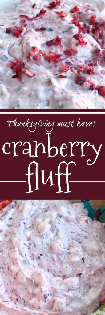 This cranberry fluff is sweet, tart, creamy, and the perfect side dish to your Holiday dinners. This is a must have at my family's Thanksgiving dinner table. It's so creamy, light, and the perfect combination of sweet and tart!www.togetherasfamily.com #cranberryrecipes #thanksgivingrecipes #sidedish