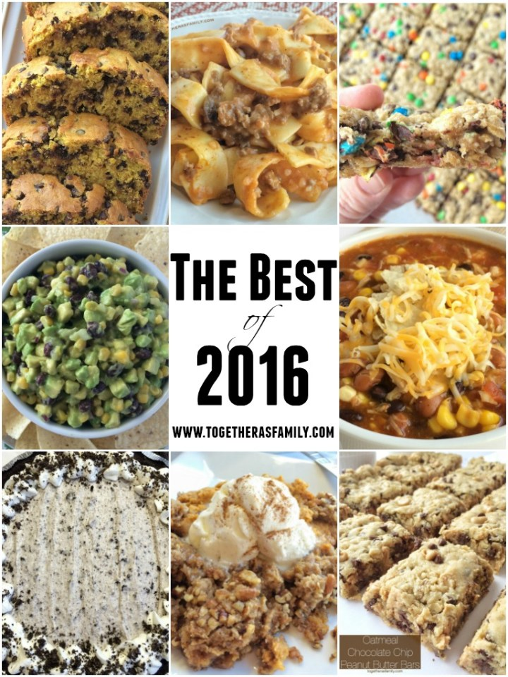 The top 10 recipes on Together as Family of 2016