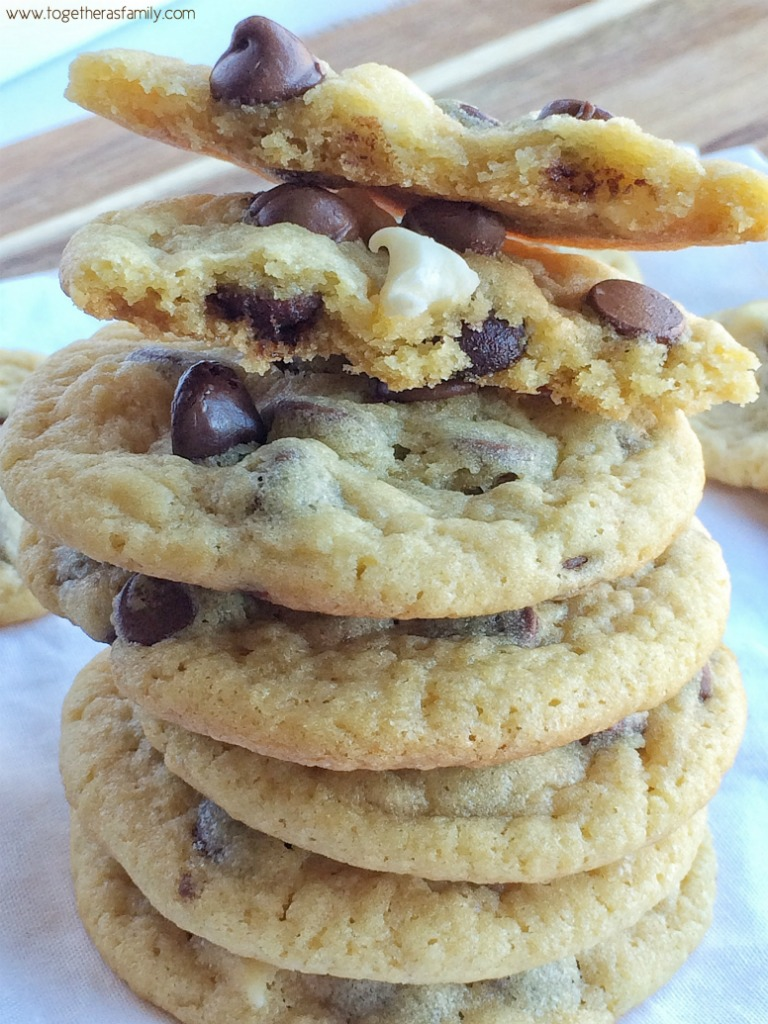 Soft Baked Cookies Have Vanilla Pudding Mix In The Dough And 3 Kinds Of Chocolate Chips