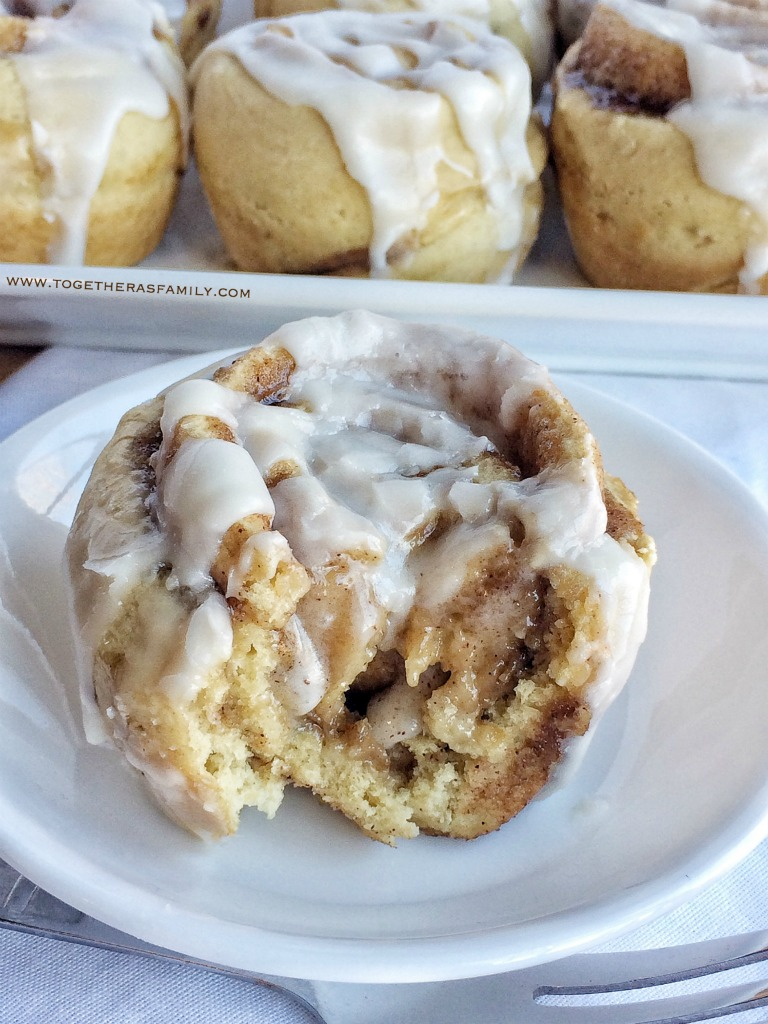 {no yeast, one bowl} Cinnamon Roll Muffins - Together as ...