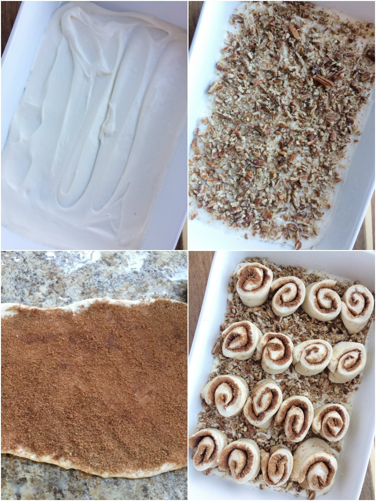 These easy overnight caramel pecan cinnamon rolls start with frozen bread dough! No yeast or rising to worry about. Simply prepare the cinnamon rolls the night before and bake up delicious, gooey, caramel pecan cinnamon rolls for a special breakfast treat.