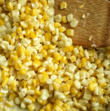 Honey butter creamy corn skillet is an easy, 15 minute side dish that uses only a few ingredients and will be a hit at the dinner table!