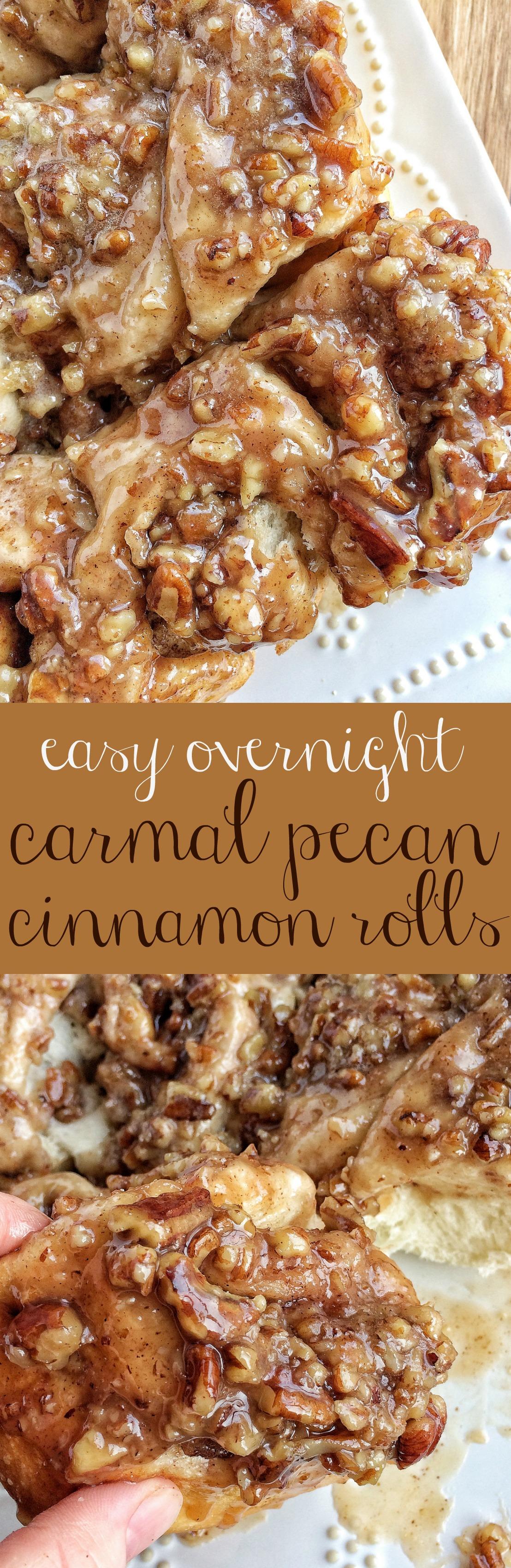 Easy Overnight Caramel Pecan Cinnamon Rolls Together As