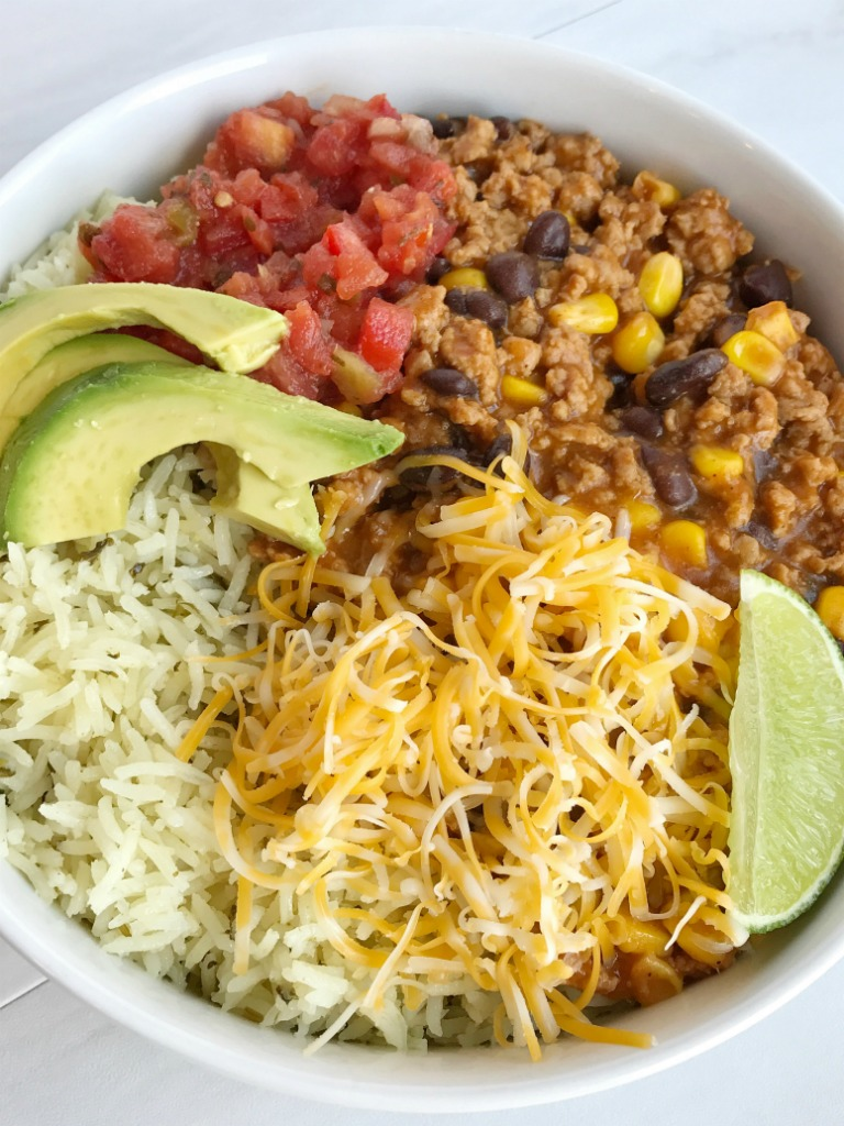 Turkey taco burrito bowls together as family turkey taco burrito bowls are a family favorite meal let everyone build their own bowl forumfinder Images