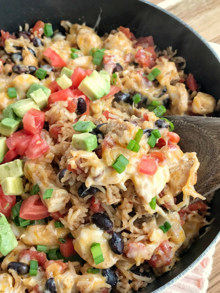 Chicken Burrito Skillet - Together as Family