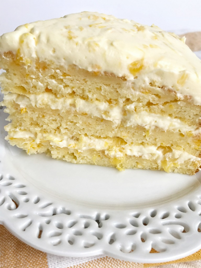 Pineapple Sour Cream Cake