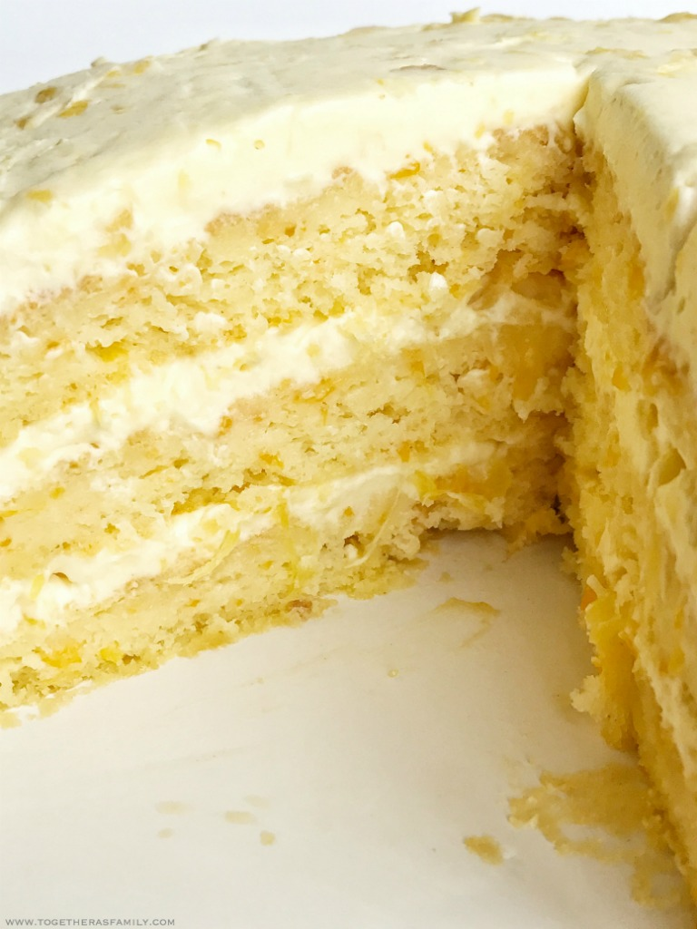 Southern Lemon Cheese Layer Cake