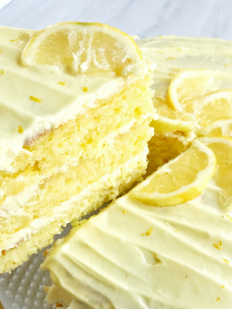 Layered Lemon Cake With Frosting