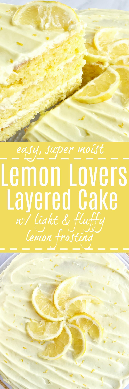 Layered Lemon Delight Cake
