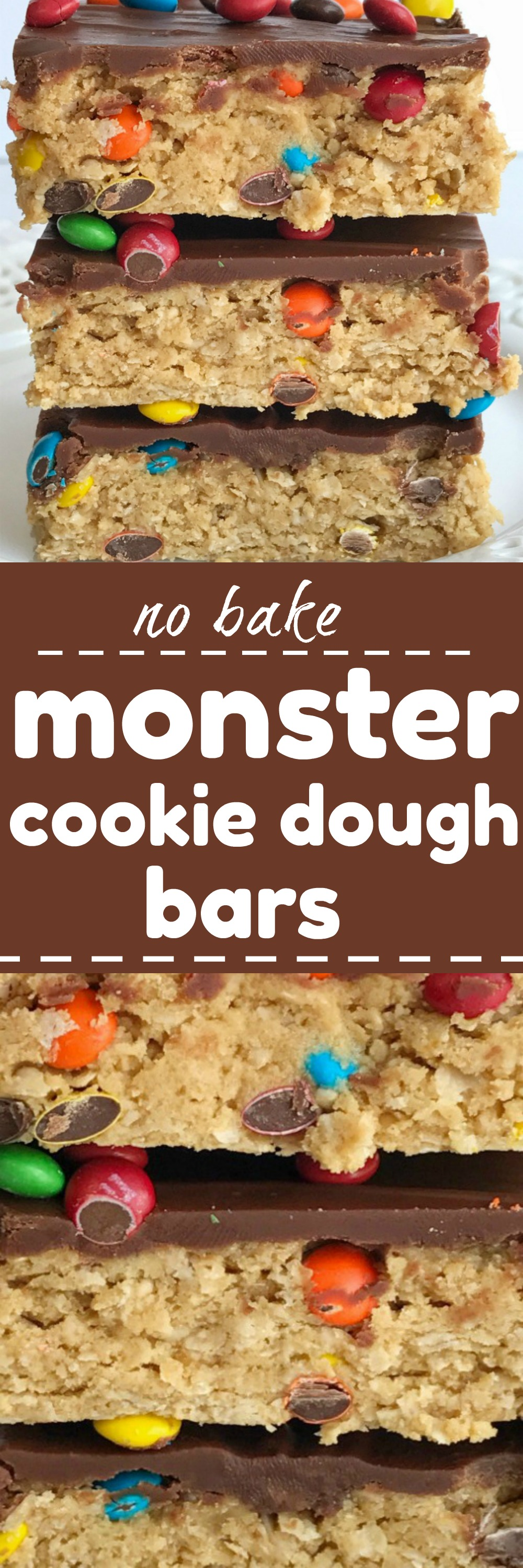 No Bake Monster Cookie Dough Bars Together As Family