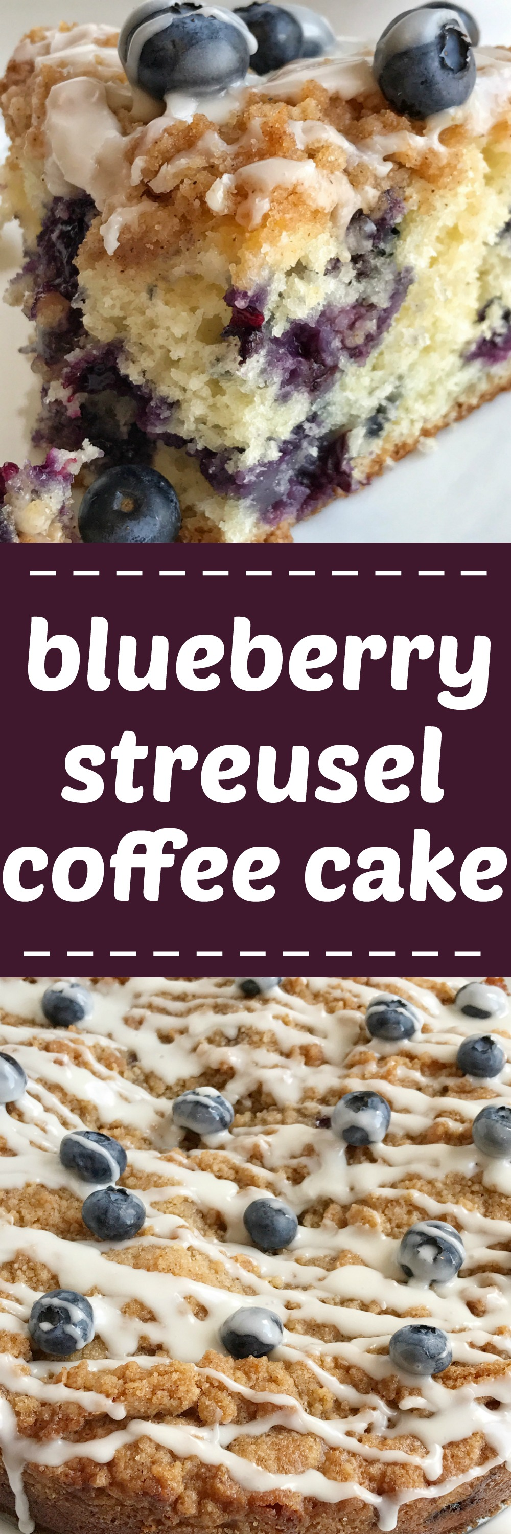 Moist Blueberry Coffee Cake Streusel Topping