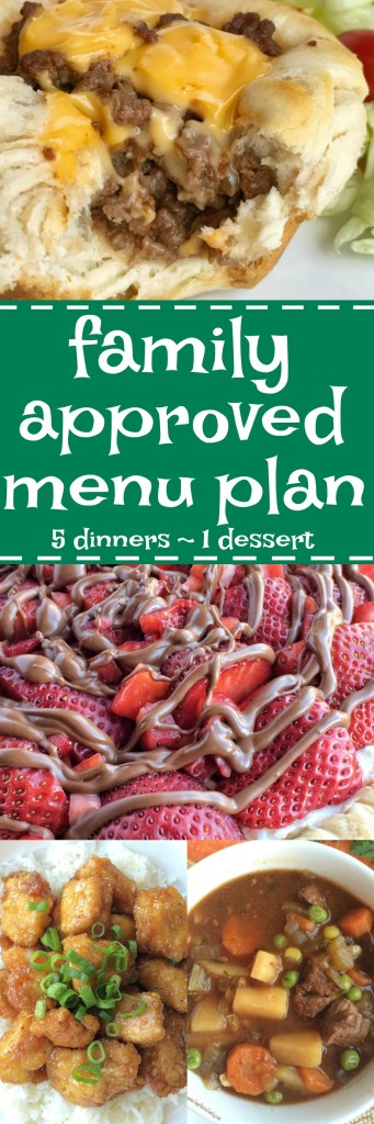 Family menu plan that your entire family will love! Easy, family-approved, simple ingredients, and delicious food to enjoy together.