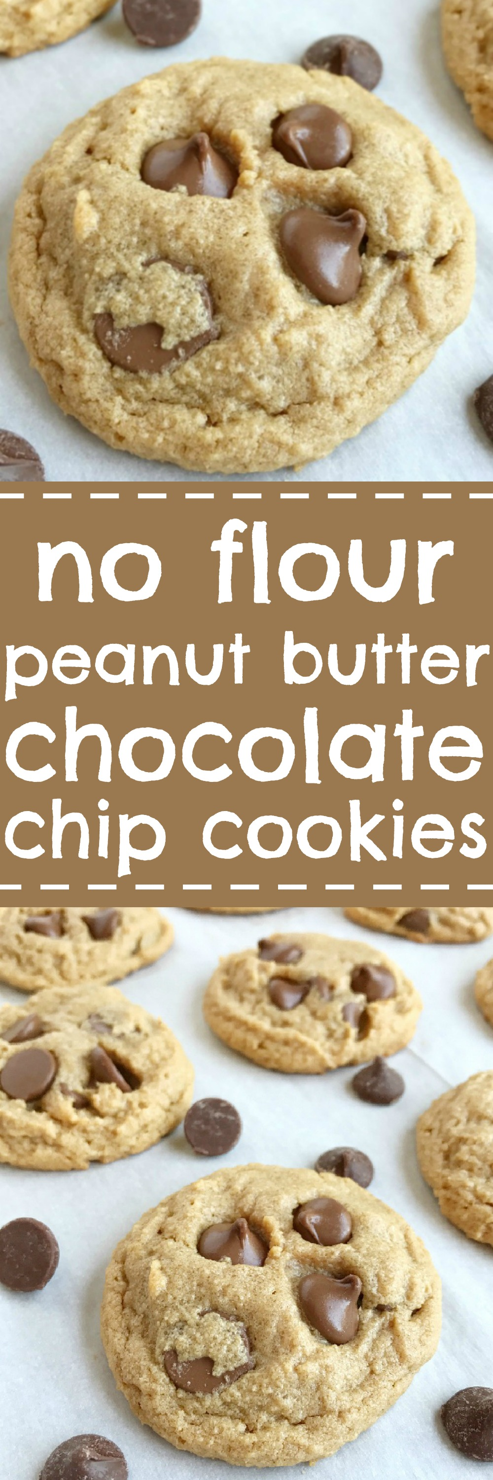 No Flour Peanut Butter Chocolate Chip Cookies - Together as Family