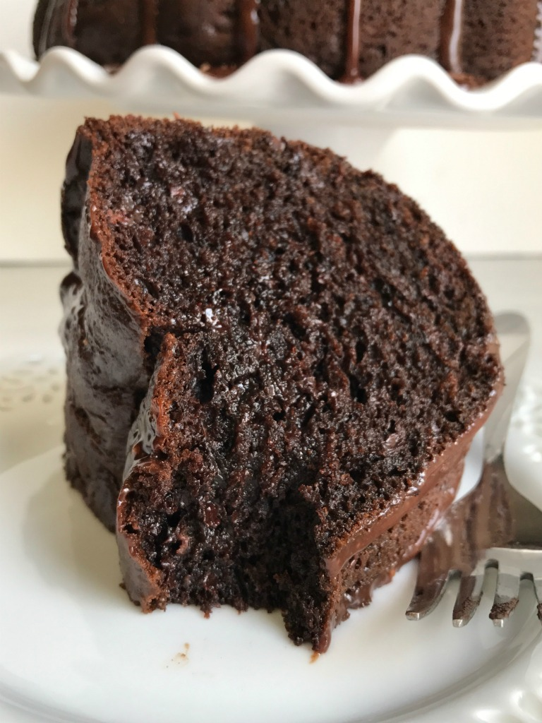 Triple chocolate fudge bundt cake together as family for Simple chocolate fudge cake