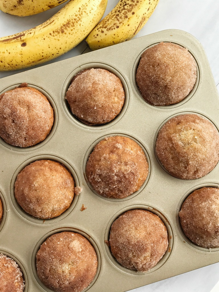 Cinnamon Banana Bread Muffins Together As Family