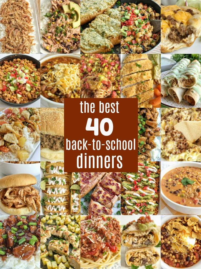 You can still get a delicious and quick dinner on the table even on busy back-to-school weeknights. This list of the best back to school dinners are family tested and approved, and are all made on a regular basis in my own house. I hope you can find some of your new family favorite dinners!