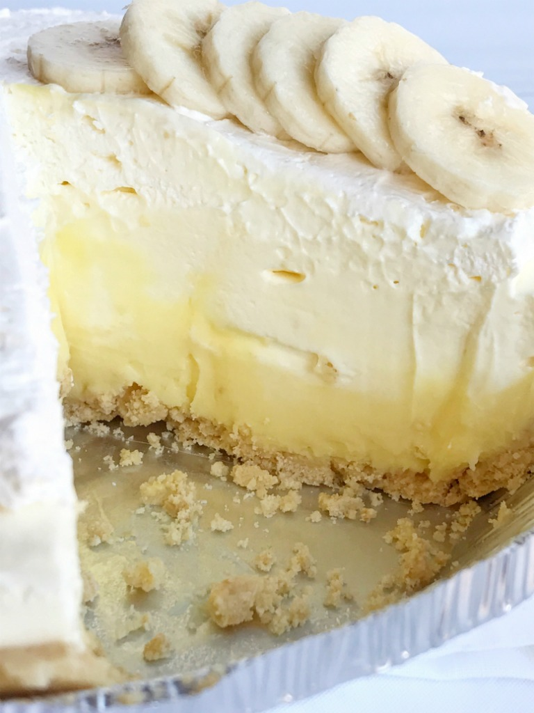 No Bake Creamy Triple Layer Banana Pudding Cheesecake Pie Double Cheese Cake Original Is A Dessert That So Delicious