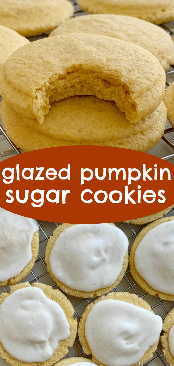 Pumpkin Sugar Cookies | Pumpkin Cookies | Pumpkin Recipes | Pumpkin Sugar Cookies with a sweet pumpkin spice glaze. Soft-baked pumpkin cookies with a light and sweet pumpkin flavor. #pumpkin #pumpkinrecipes #pumpkincookies #recipeoftheday #cookies