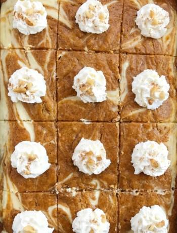Cheesecake Swirl Pumpkin Cake