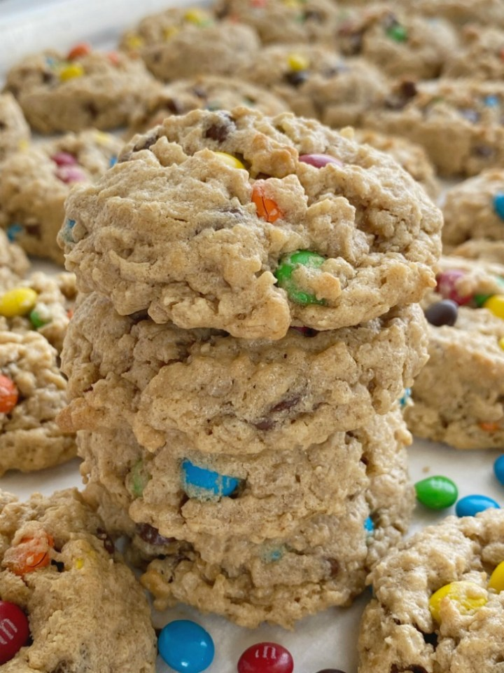 No Flour Monster Cookies Together As Family