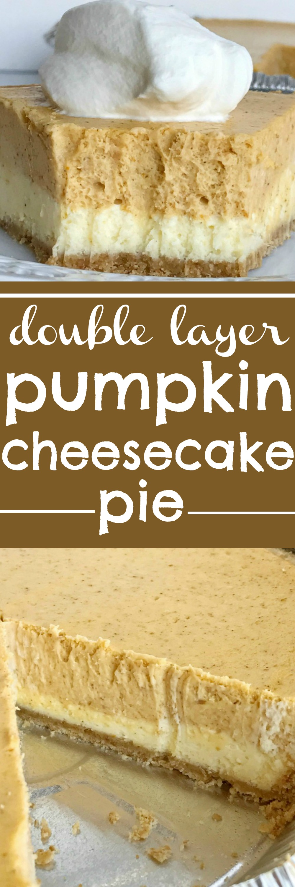 Double Layer Pumpkin Cheesecake Pie Together As Family Cheese Cake Original Has Two Layers Of Inside A Prepared Graham Cracker